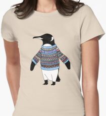 Pinguin Tailliertes T-Shirt