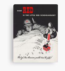 Wie rot ist das kleine rote Schulhaus Leinwanddruck