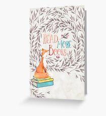Read More Books - Fox Greeting Card