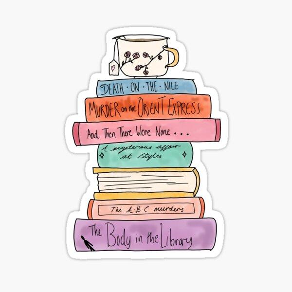 Agatha Christie book stack Sticker
