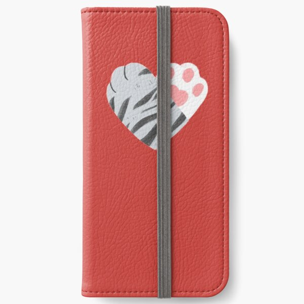 We're Purrfect Together Cat Heart Paws iPhone Wallet