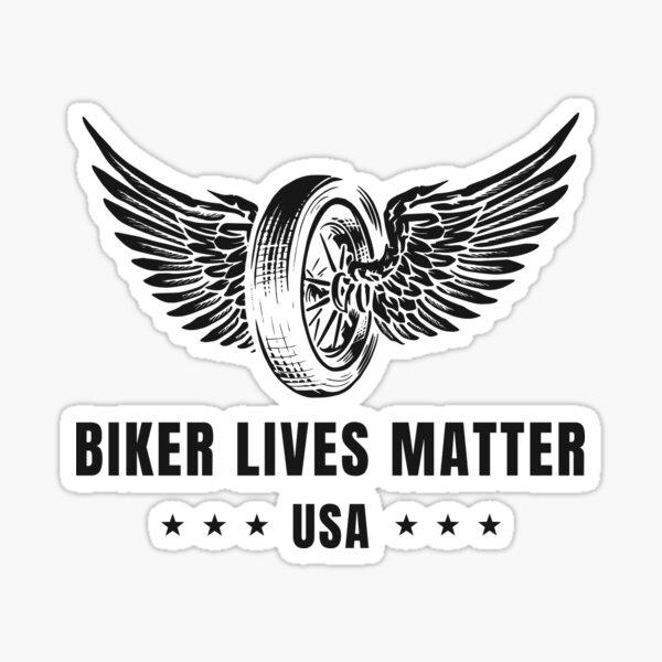 Biker lebt Materie - Rad Sticker