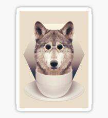 Caffeinimals: Wolf Sticker