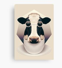 Caffeinimals: Cow Canvas Print