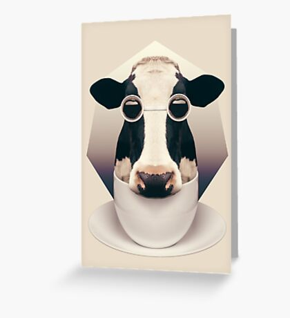 Caffeinimals: Cow Greeting Card