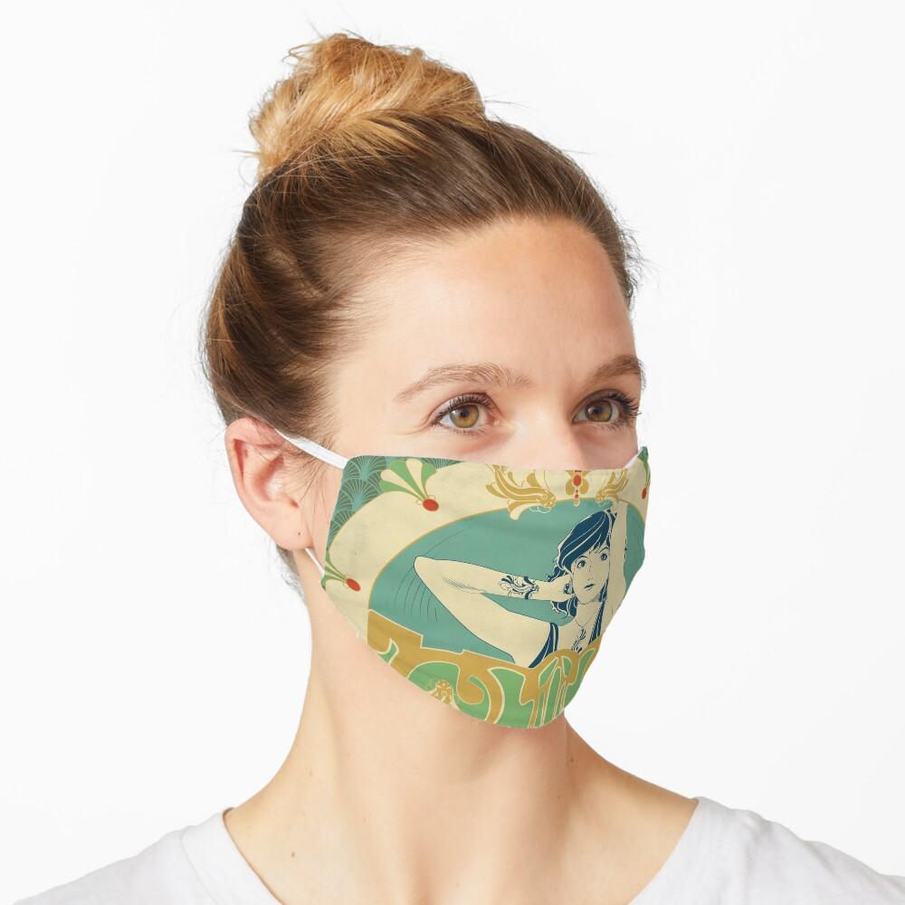 Masque «Parure Poisson bleu - Illustration Art Nouveau»