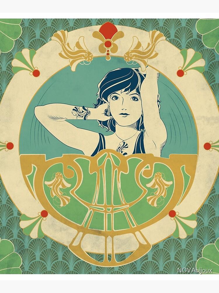 «Parure Poisson bleu - Illustration Art Nouveau» par NOVAbijoux