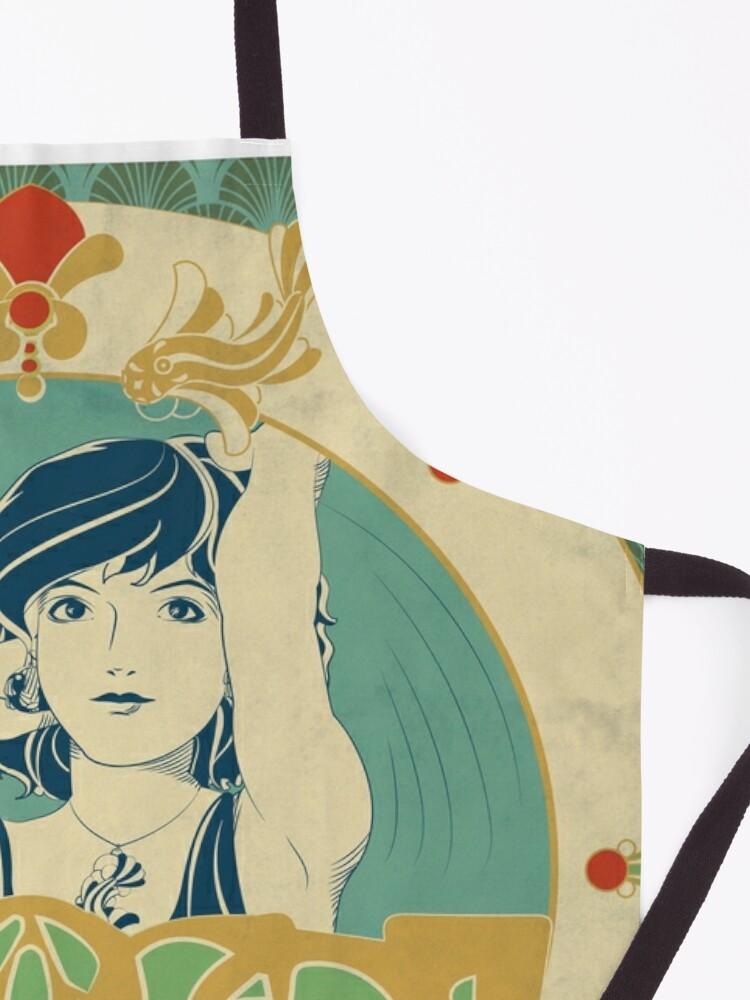 Tablier ''Parure Poisson bleu - Illustration Art Nouveau': autre vue