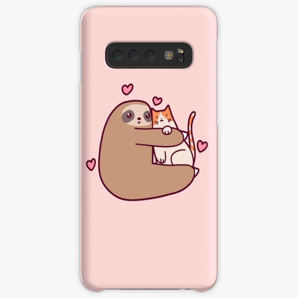 Sloth Loves Cat Case & Skin for Samsung Galaxy