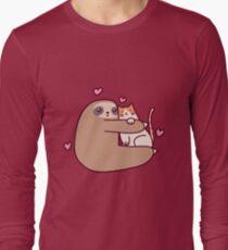 Sloth Loves Cat T-Shirt