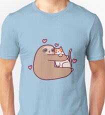 Sloth Loves Cat Unisex T-Shirt