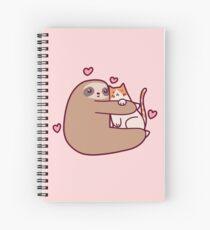 Cuaderno de espiral Sloth Loves Cat