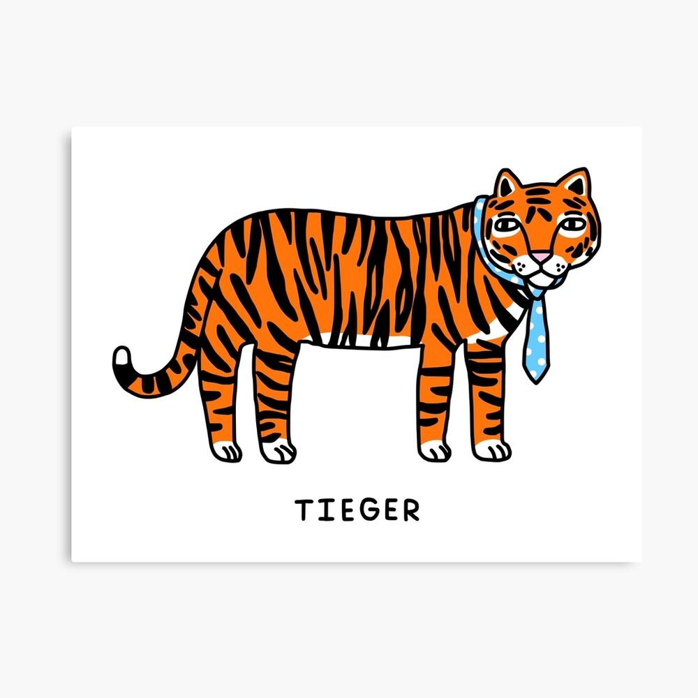 Tieger Canvas Print