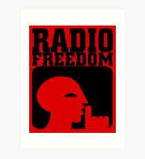 RADIO FREEDOM Art Print