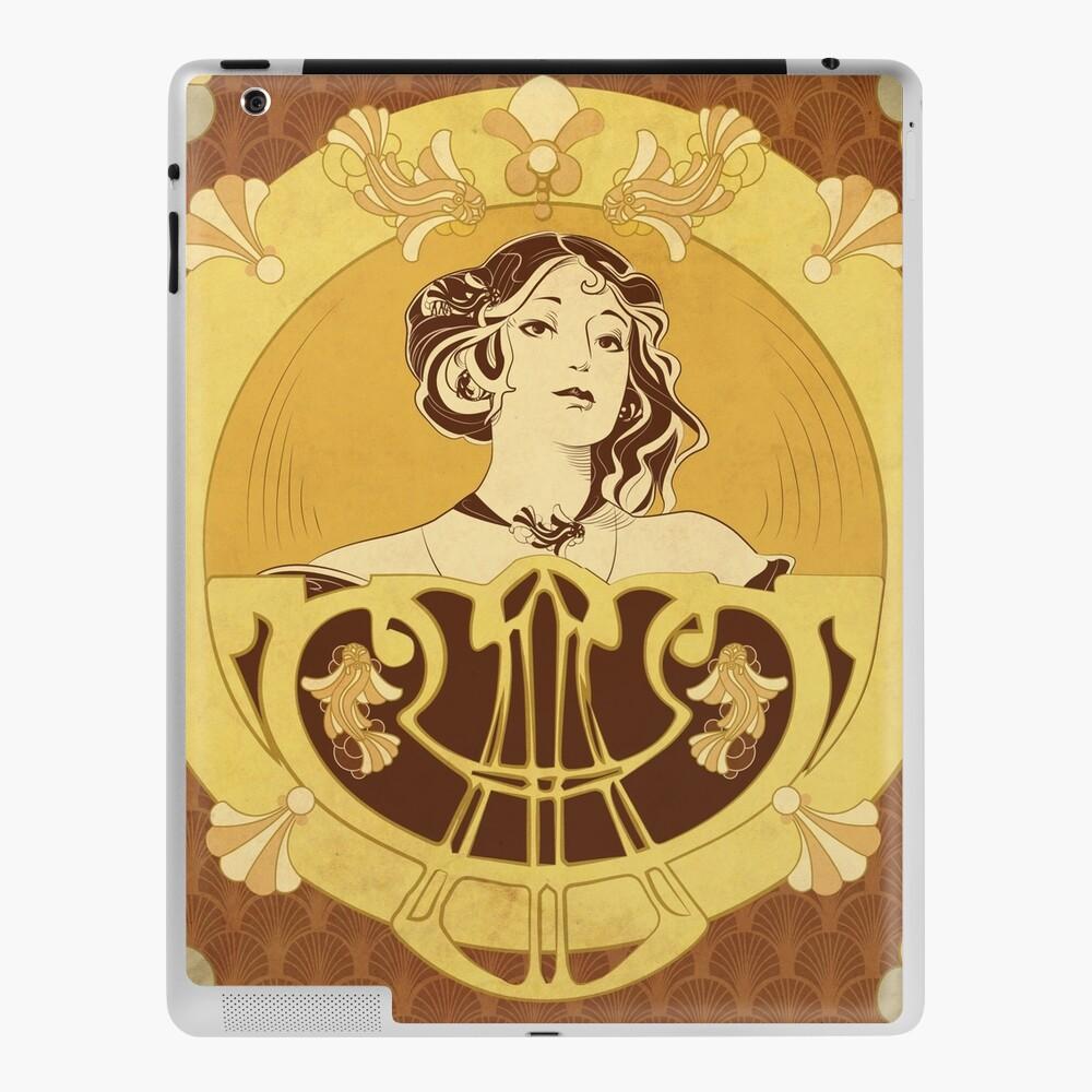 Coque et skin adhésive iPad «Parure Poisson brun»
