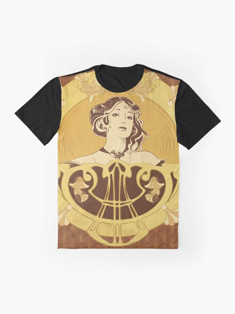 T-shirt graphique ''Parure Poisson brun': autre vue