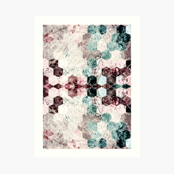Marble texture red brown Art Print
