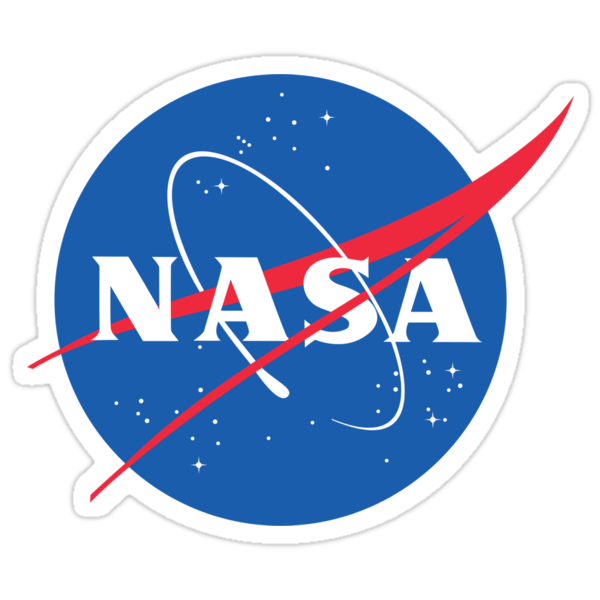 Nasa logo space tumblr quot stickers by rosewelldesigns redbubble