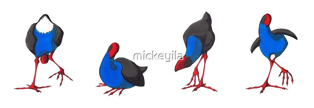 Pukekos by mickeyila