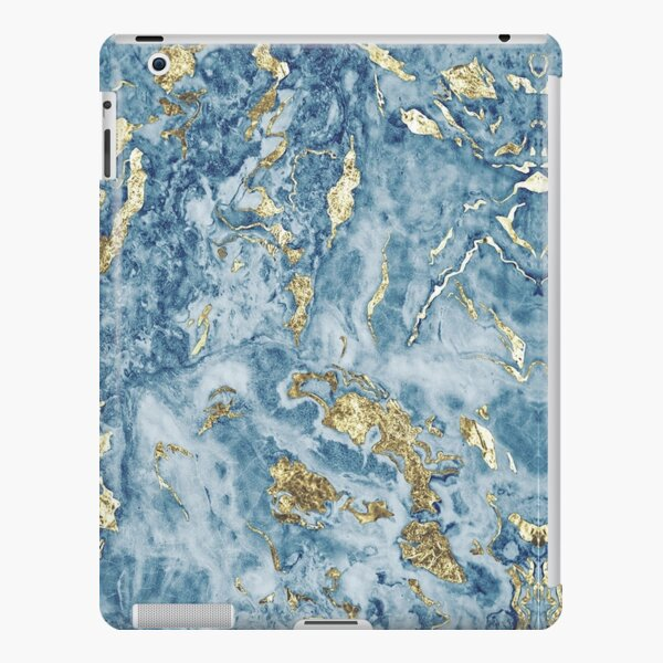 Marble blue and gold pattern iPad Snap Case