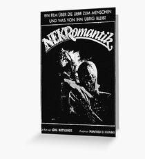 Nekromantik poster Greeting Card
