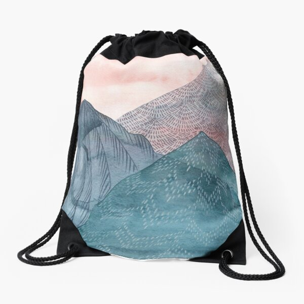 O'er The Wild Mountains Drawstring Bag