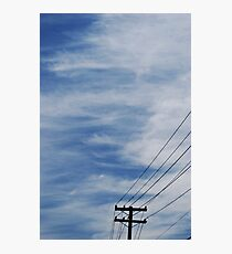 Sky and Wires Photographic Print