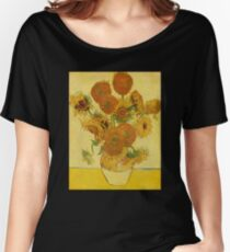 'Still Life with Sunflowers' by Vincent Van Gogh (Reproduction) Women's Relaxed Fit T-Shirt