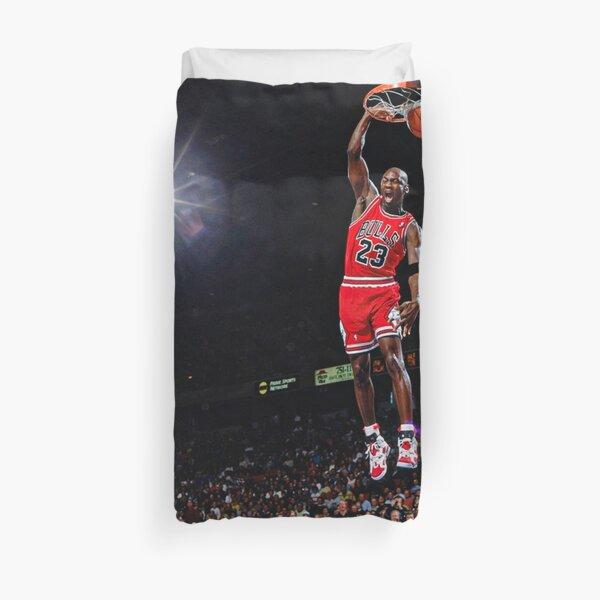 Arte de la pared del cartel de la clavada de Michael Jordan | Infame en el juego mate Funda nórdica
