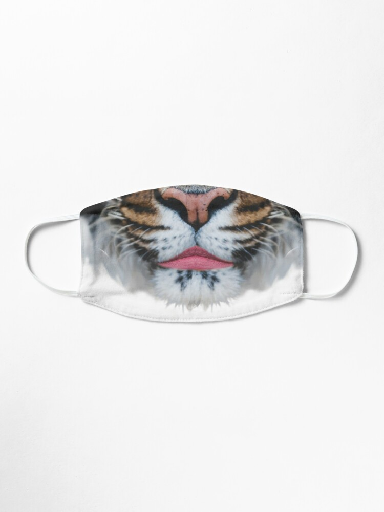 Alternate view of Tiger Queen of the Pink Jungle with Flower Crown by Alice Monber Mask