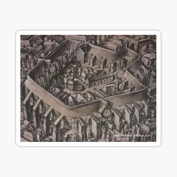 The Walled City Sticker