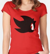Shadow the hedgehog silhouette  Women's Fitted Scoop T-Shirt