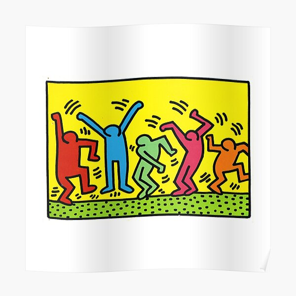 Illustration de graffiti allemand Keith Haring Poster
