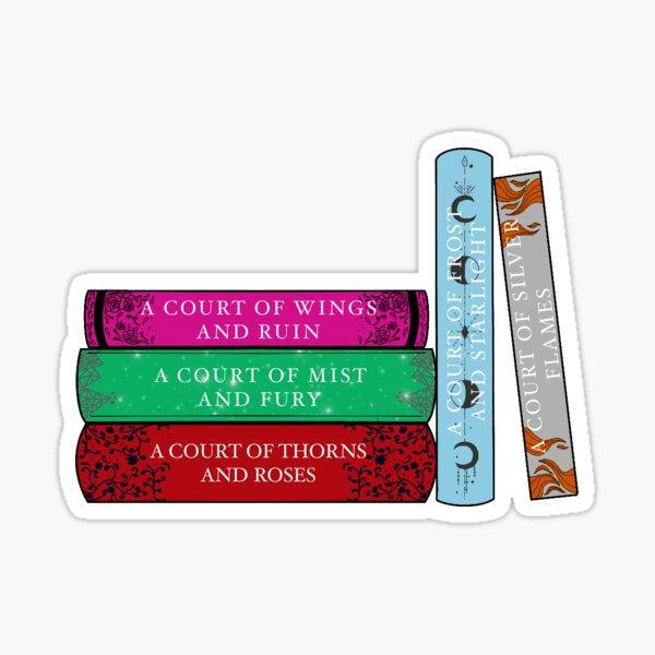 Dornen und Rosen Buchstapel Aufkleber Sticker