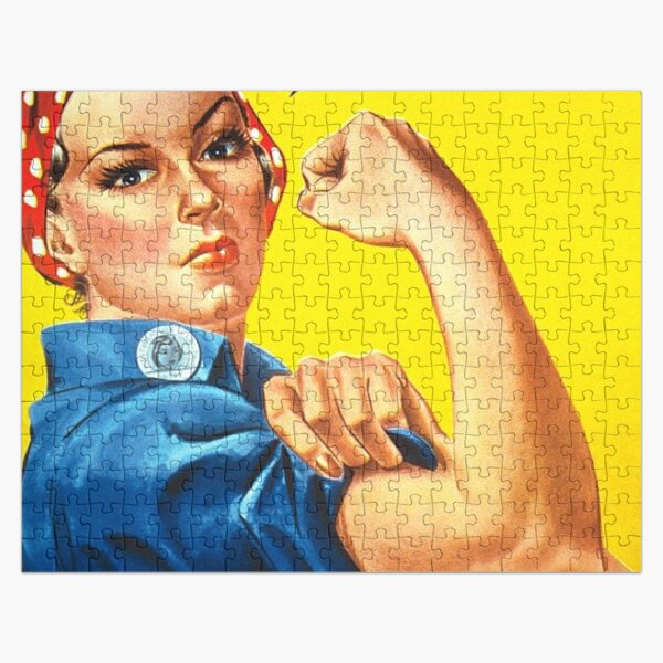 """""""We Can Do It!"""" is an American World War II wartime poster produced by J. Howard Miller in 1943 for Westinghouse Electric as an inspirational image to boost female worker morale Jigsaw Puzzle"""