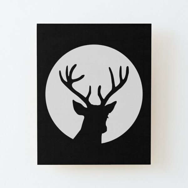 Deer Head Silhouette Wall Art Redbubble