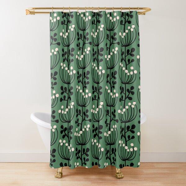 Mimose - Grün Duschvorhang