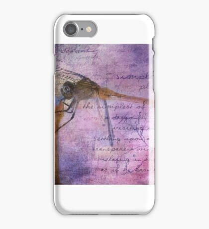 Simple Pleasures IV ~ The Dragonfly iPhone Case/Skin