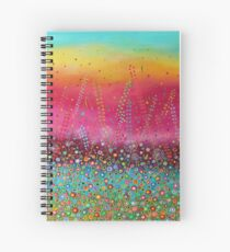 Brand New Day - Colourful Flower Meadow Spiral Notebook