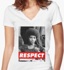 R.E.S.P.E.C.T. Women's Fitted V-Neck T-Shirt