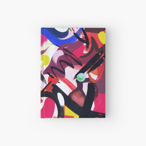 Psychedelic Abstract Art Print Hardcover Journal