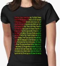 Reggae Artist - Roll Call Womens Fitted T-Shirt