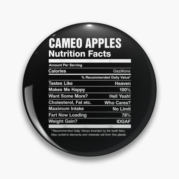 Cameo Apples Valeur nutritive drôle Badge