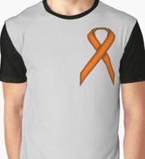 Orange Standard Ribbon Graphic T-Shirt