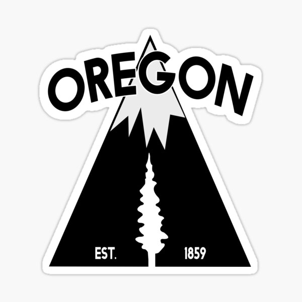 Oregon Mountain Tree Est. 1859 Sticker