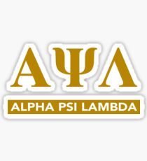 Alpha Psi Lambda Letters with Bar Underneath Sticker