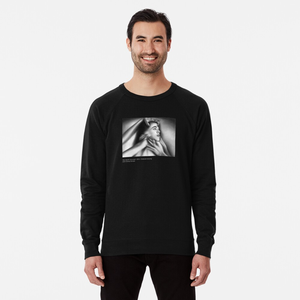 Death of a child (Charcoal drawing) Lightweight Sweatshirt