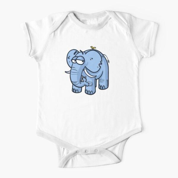 Elefante y pájaro Body de manga corta para bebé