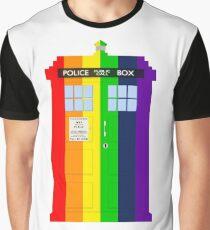 Rainbow Tardis Graphic T-Shirt