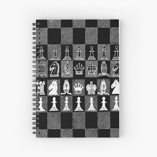 Chess Fan, Chess Player, Grand Master of Chess - White Spiral Notebook